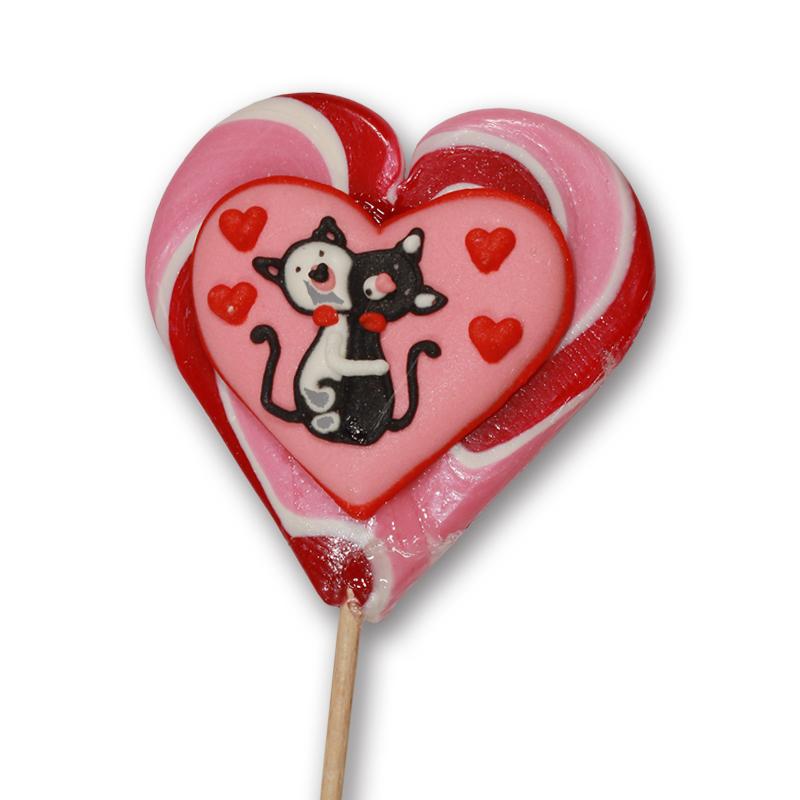 Котята сердце розовое