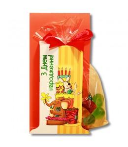 """Желейные конфеты """"С Днем рождения"""" оранж"""